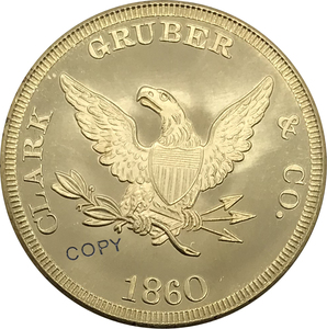 1860 United States 20 Dollar gold coin Brass Collectibles Copy Coin