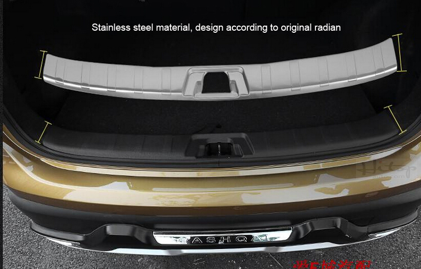 Rear Bumper Protector Sill Scuff Plate for Suzuki Vitara 2015-2016