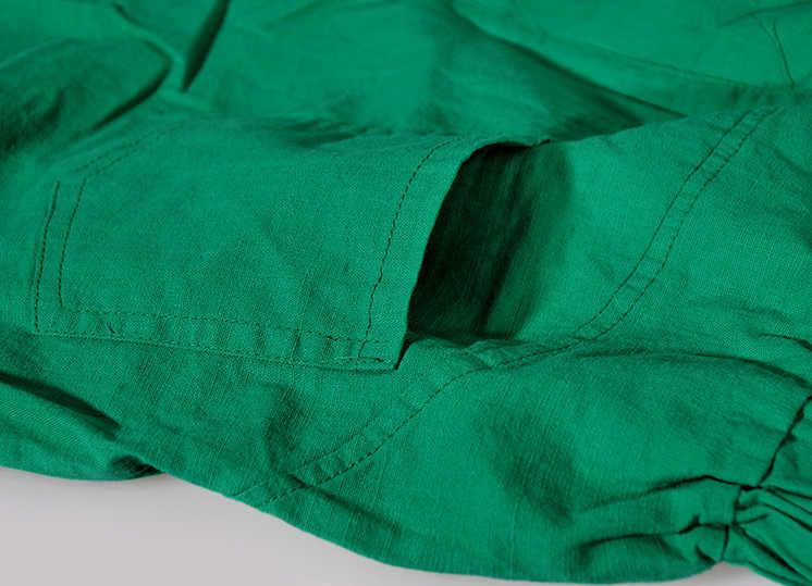Oversized Broek Pure Kleur Katoen Linnen Broek Vrouwen Losse Plus Size Zomer Herfst Enkellange Vrouwelijke Pocket Casual Broek