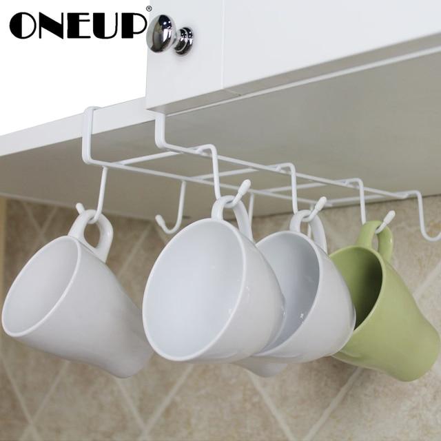 Oneup 8 Hooks Kitchen Storage Rack Cupboard Hanging Hook Hanger Coffee Cup Mug Shelf