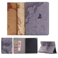 Hot Sale Fashion Map Tablet Cover Case For Ipad Air 2 Wallet Style Flip Bracket Leather