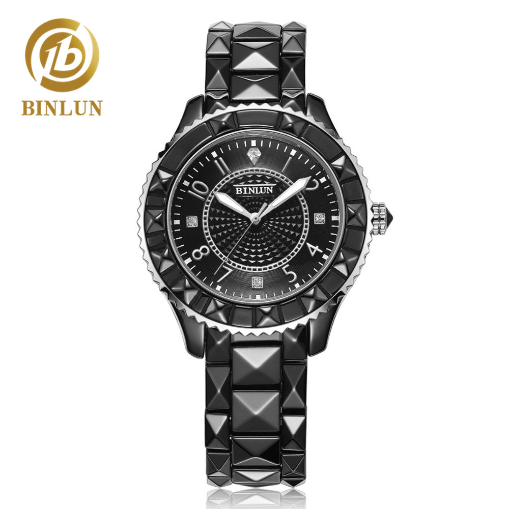 BINLUN Diamond Shape Design Men's Quartz Watch Punk Style Couple Watches Waterproof Ceramics Watch Automatic Quartz Women Watch цена