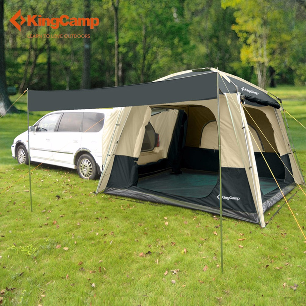 KingCamp Camping Tent 5-Person SUV Car Tent for Outdoor Camping Self-driving Travelling Double layer Tent 4-Season Using high quality outdoor 2 person camping tent double layer aluminum rod ultralight tent with snow skirt oneroad windsnow 2 plus