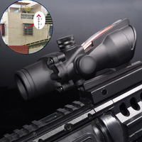 WIPSON Hunting Tactical Enhanced Edition 308 4X32 ACOG Scope Fiber Source Red Green Illuminated Scope For