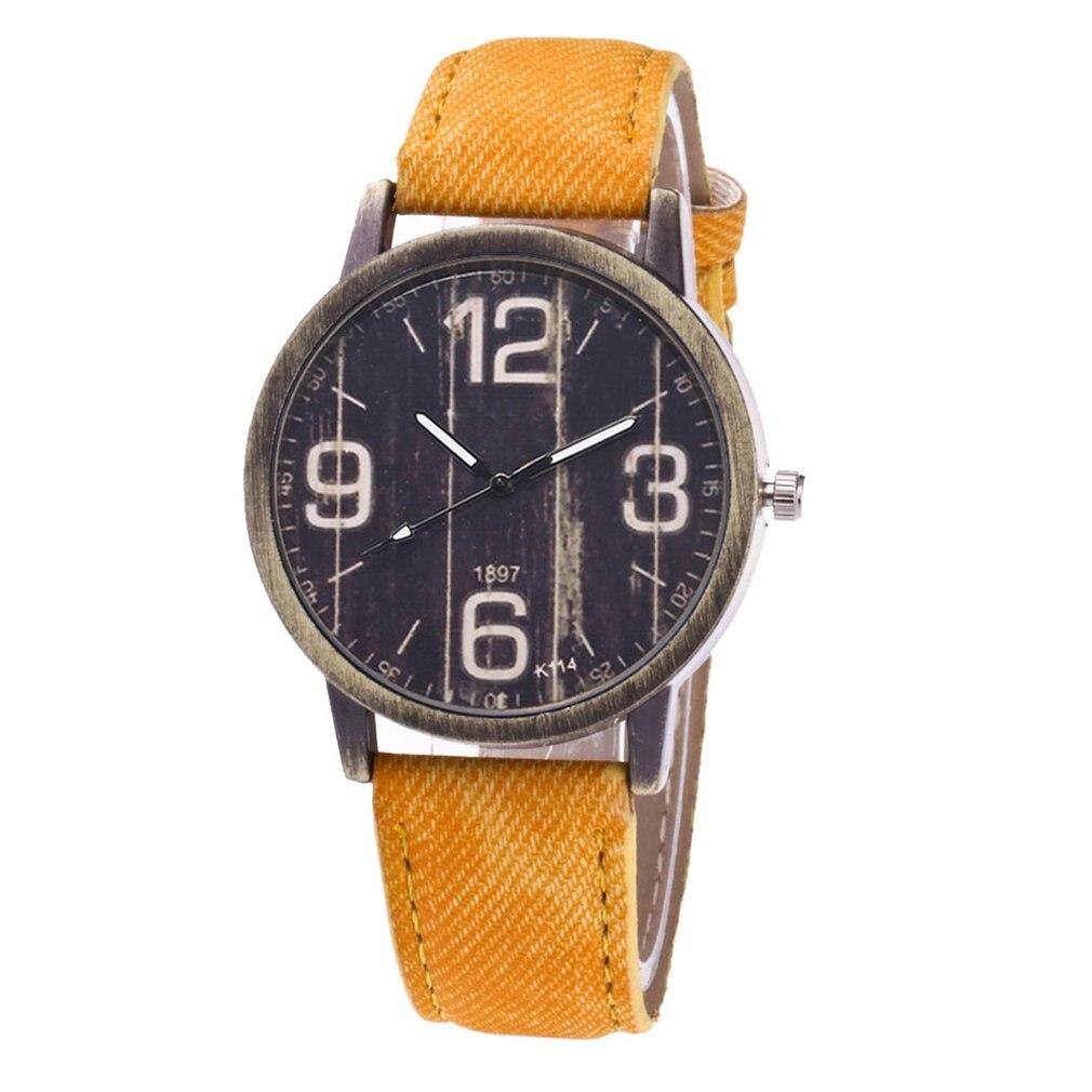 High-quality Brand New K105-k120 Ladies Denim Quartz Watch Fashionable Popular Nice Sweety Gift 2018 Modern And Elegant In Fashion Women's Watches