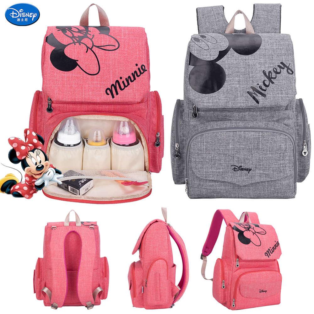 Дисней Микки Минни большой емкости Мумия Материнство подгузник мешок детский дорожный рюкзак дизайнерская сумка для кормления для ухода з...