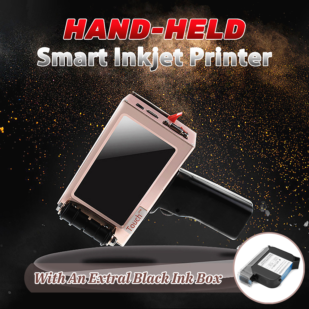 300-600DPI Handheld Intelligent Inkjet Printer Jet Ink Date QR Coding Marking Machine LED Touch Screen Coding machine my380 automatic ink wheel code printer ink marking machine automatic coding machine production date marker