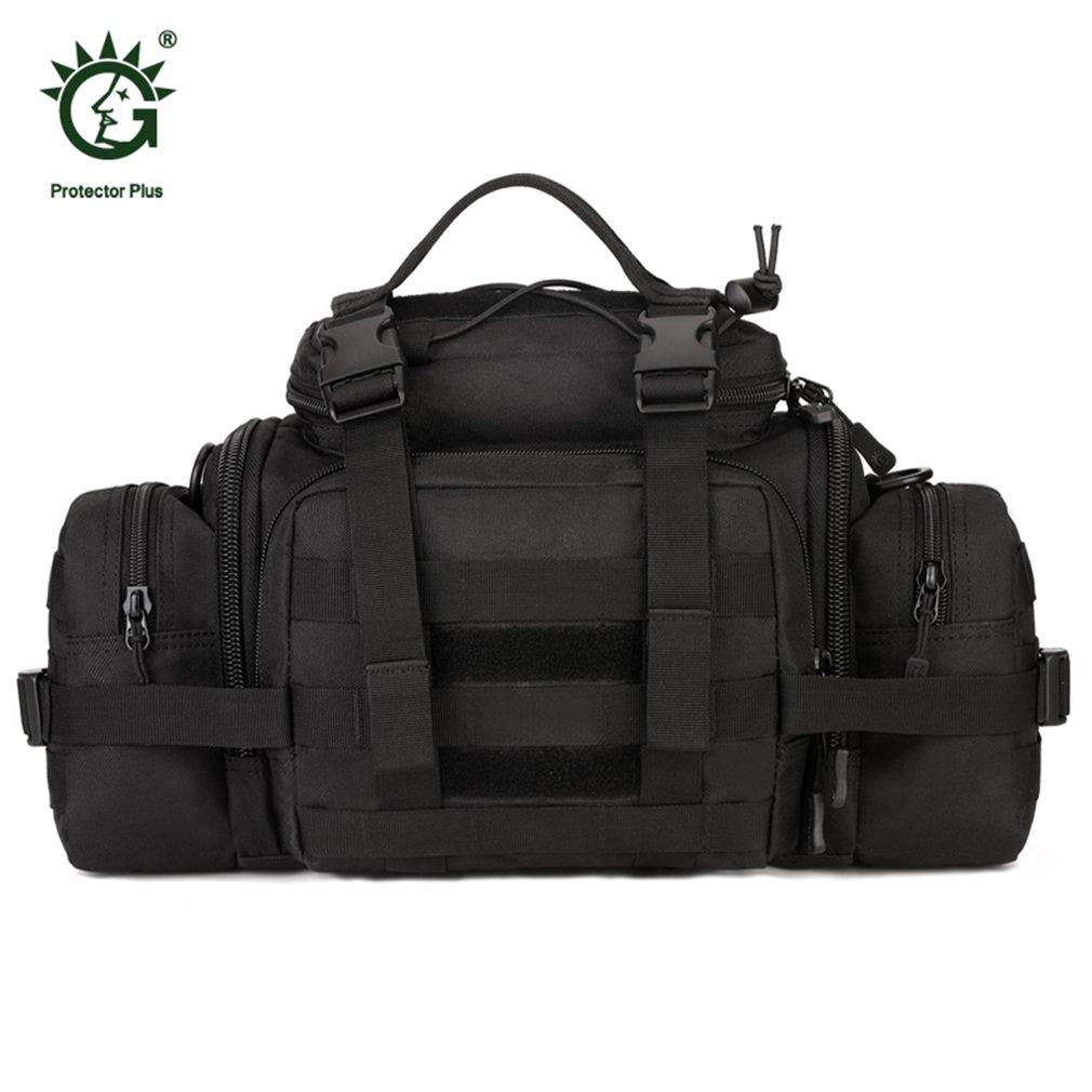 Durable Multifunction Waist Bag Large Capacity Hand Bag Waterproof Nylon Shoulder Bag for Camping Hiking Hunting