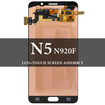 For Note 5 LCD 5.7'' N9200 N920F Gray Black Display Screen AMOLED Digitizer Replacement Spare Parts