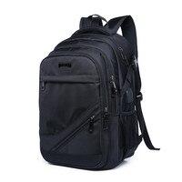 Черный рюкзак школы водонепроницаемый большой bagpack рюкзак человек back pack мужчин сумку для ноутбука 15,6 мальчиков школьные сумки backbag дропшипп...