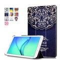 Inteligente para Samsung Galaxy TAB 9.6 T560 Tablet colorido pintado dos desenhos animados PU capa de couro capa + presente