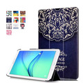 Smart Cover para Samsung Galaxy TAB E 9.6 T560 Tablet cubierta de la caja de colores de dibujos animados pintada PU funda de piel cubierta + regalo