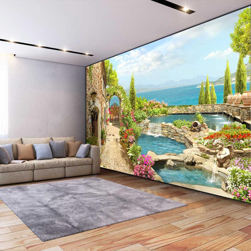 Высокое качество на заказ 3D фото обои для стен спальни 3D садовый пейзаж фон настенная живопись Домашний Декор Гостиная