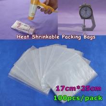100Pcs 6.7x9.8Inch(17x25cm) Soft Transparent Blow Molding PVC Heat Shrinkable Bags Film Wrap Cosmetic Packaging Wrap Materials