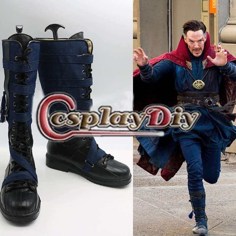 Doctor Strange Cosplay Avenger Dr.Steven Vincent Strange Cosplay Shoes Adult Men's Cosplay Boots Custom Made saint seiya cosplay shoes boots anime shoes for adult men s halloween cosplay accessories custom made