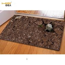 HUGSIDEA 3D Cute Animal Ferret Ant Printed Non-slip Floor Carpet Area Rugs for Living Room Bedroom Kitchen Entrance Doormat Mats