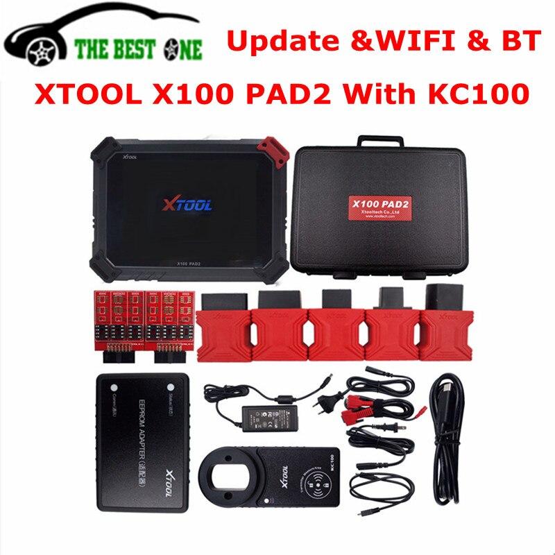 Original XTOOL X100 PAD2 Pro With KC100 Auto Key Programmer EEPROM DPF EPB EPS Odometer Oil TPMS X100 PAD 2 WIFI Diagnostic Tool