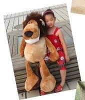Творческий огромный прекрасный чучело льва плюшевые игрушки джунгли лев кукла подарок на день рождения о 100 см