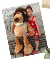 creative huge lovely stuffed animal lion plush toys the jungle lion doll birthday gift about 100cm