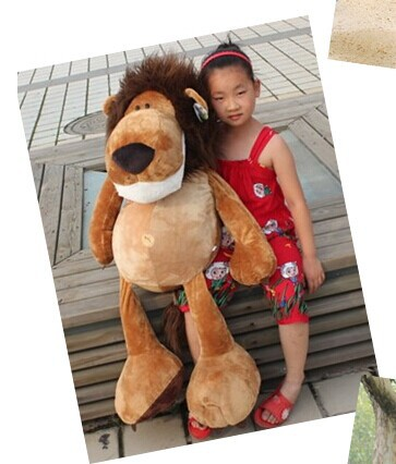 цены creative huge lovely stuffed animal lion plush toys the jungle lion doll birthday gift about 100cm