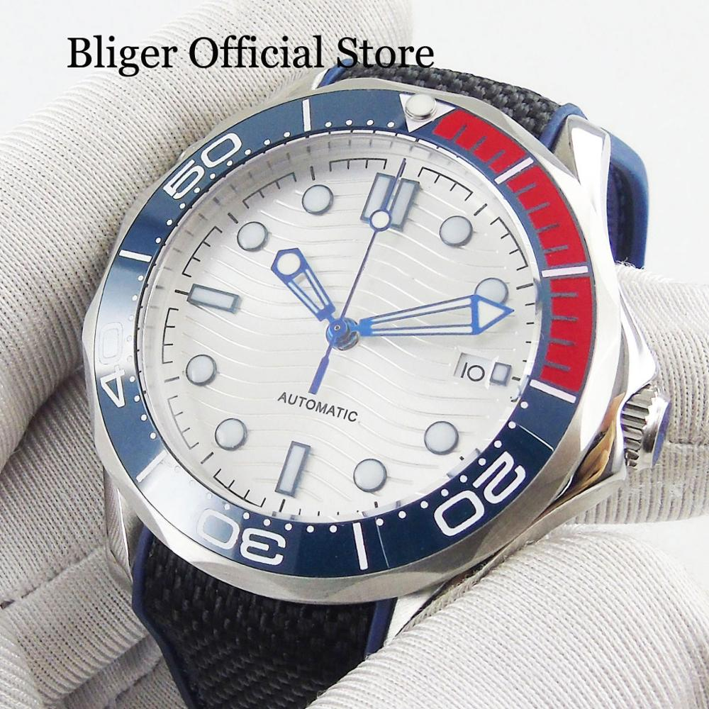 BLIGER Mens Wtach With Automatic Movement Sapphire Glass 41mm Wristwatch With Date WindowBLIGER Mens Wtach With Automatic Movement Sapphire Glass 41mm Wristwatch With Date Window