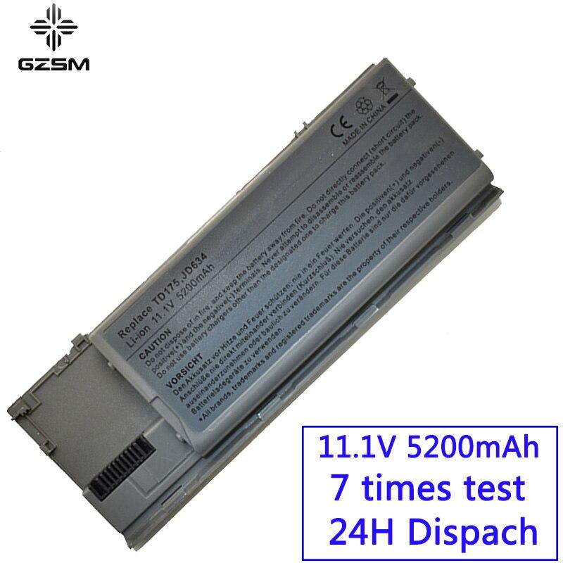GZSM Laptop Battery D620 For Dell D630 D630 ATG D630 UMA D630c Battery For Laptop  M2300 TG226 UD088 JD634  D631N Battery