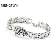 J Store Wolf Game of Thrones Bracelets & Bangles Silver Stark House Bra