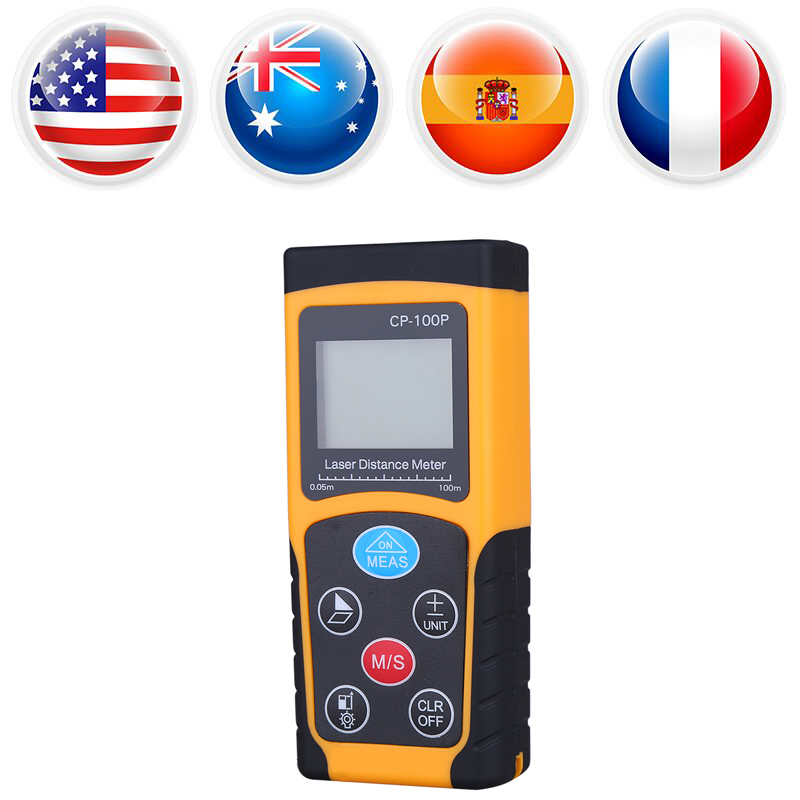 High Accuracy Handheld Digital IR Laser Distance Meter Compact Measure Range Finder 100M laser metro digital measurement tape digital 100m handheld digital laser distance meter range finder measure diastimeter