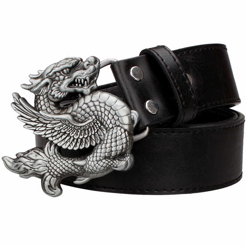 Persönlichkeit flying dragon gürtel metall schnalle männer leder gürtel punk rock gürtel frauen jeans bund hip hop gürtel