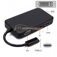 Combo 4 in 1 USB 3.1 Type C to HDMI Digital AV & DVI & VGA & DisplayPort for Samsung Galaxy S8 S8+ Plus Cell Phone