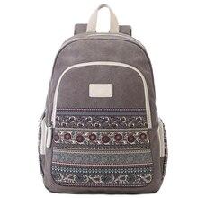 Холст рюкзак для женщин Рюкзак национальный женские рюкзаки дорожные сумки для девочек Ретро студент колледжа Mochila Feminina Back Pack
