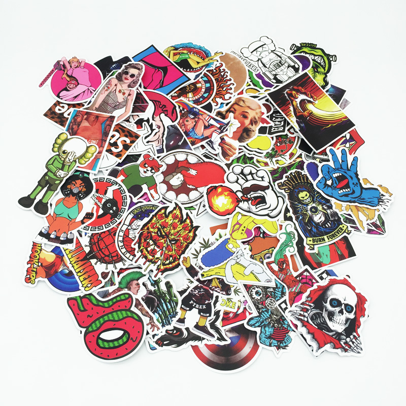 500 Pcs/pack Classic Fashion Style Graffiti Stickers For Moto Car & Suitcase Cool Laptop Stickers Skateboard Sticker Toy