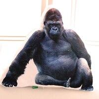 new black 3D plush orangutan toy plush animal orangutan pillow gift about 55x45cm