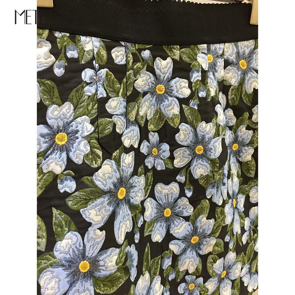 Mode Pré Jupe 2019 Piste Printemps Jacquard Floral Minijupe Été printemps De Taille Haute paFUwxB4q
