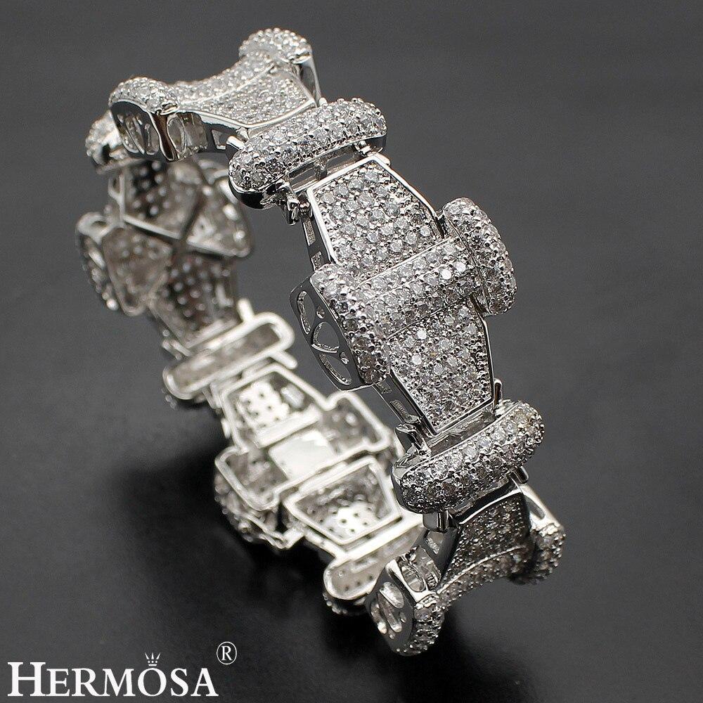 Exclusif De Luxe Bracelet 925 En Argent Sterling Femmes Bracelets 7 ''Incroyable CADEAU DE NOËL Brillant Partie Bijoux
