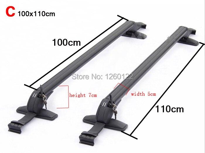 car roof rack car top racks cross bar no drilling required quality universal aluminium alloy size c
