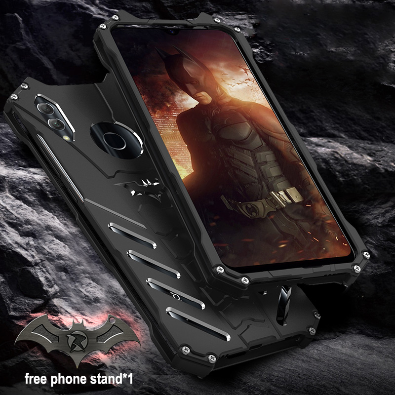 For HUAWEI P Smart 2019 Case Original R-JUST Batman Armor Aluminum Metal For HUAWEI P Smart 2019 Case Shockproof Coque