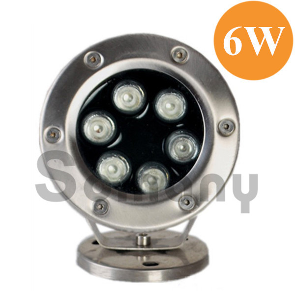 ФОТО Top Sale 6W Led Underwater Light Waterproof Imported Led Chips 304Stainless Steel Seven Colors for Pool Led Recessed Spotlight
