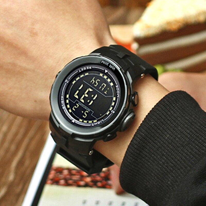 2018 New SANDA Brand LED Digital Mens Military Watches Men Sports Watch Swim Cli