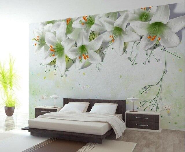 3d Papier Peint Pour Chambre Papier Peint 3d Fleur De Lys 3D Stéréo Fresque  Murale Salle