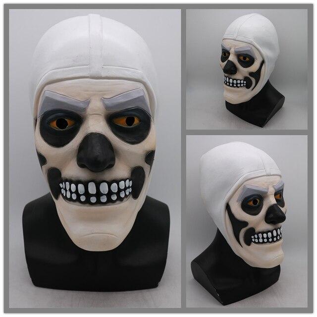 Adult Game Skull Trooper Skin Cosplay Costumes Latex Skull Trooper