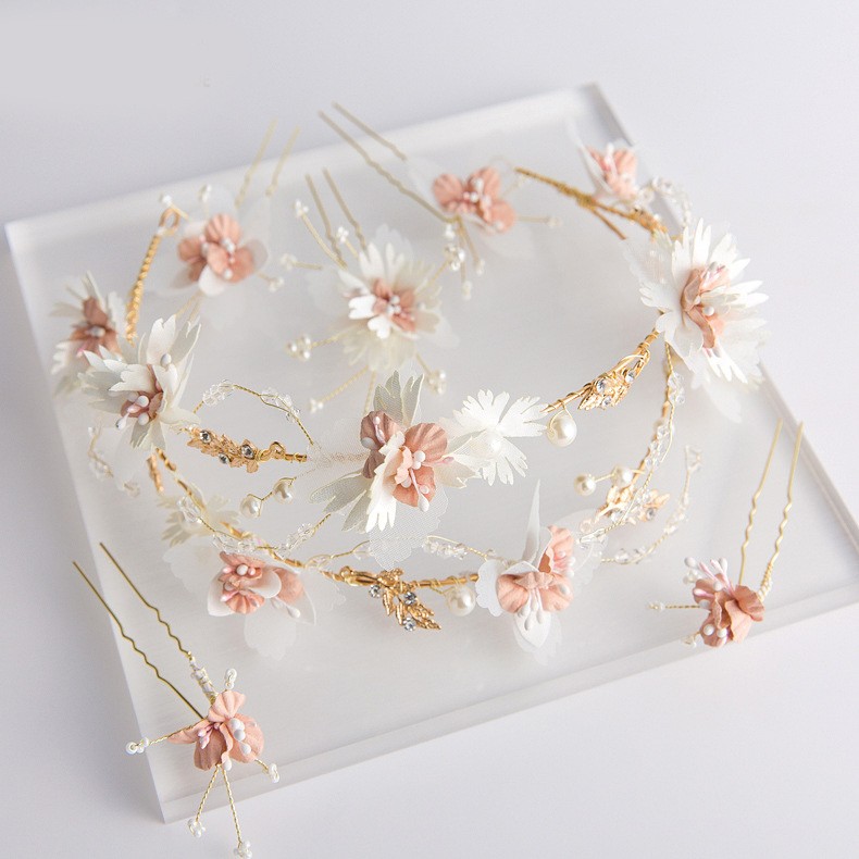 Wedding Hair Accessories Decoration Handmade Flower And Pearl Wedding Hair Piece