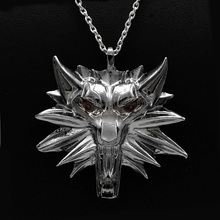 The Witcher 3 Wild Hunt Medallion Pendant Chain Necklace The Wild Hunt Figure Witcher 3 Game Necklace Men Jewelry Gift hellboy the wild hunt