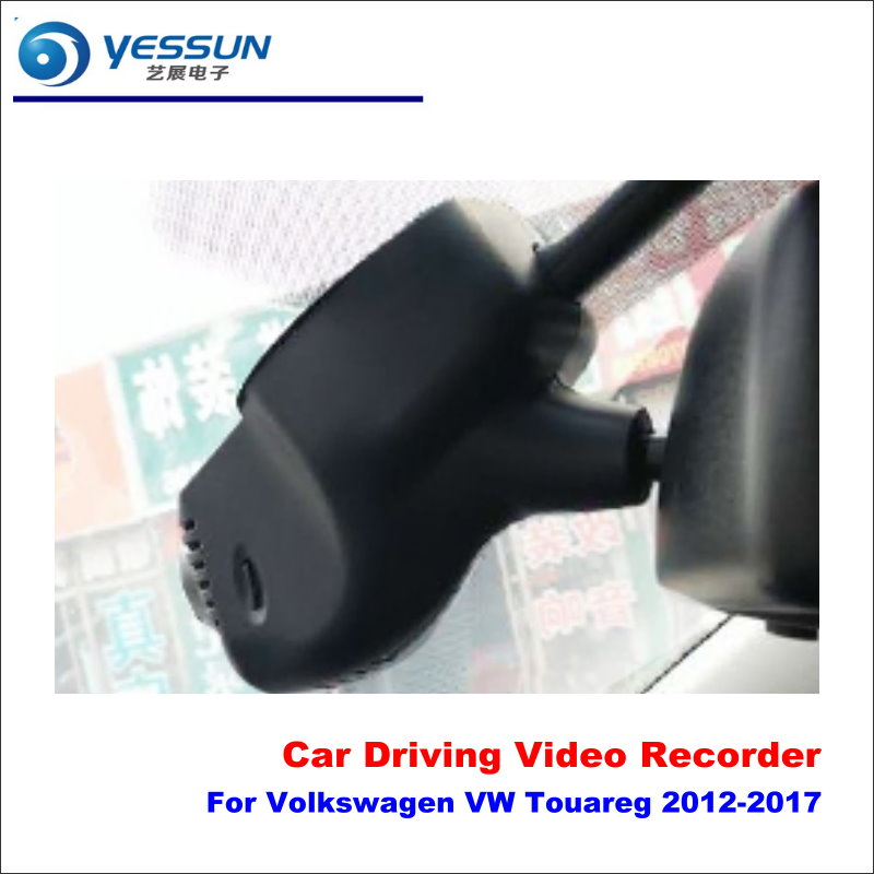 YESSUN Car DVR Driving Video Recorder For Volkswagen VW Touareg 2012-2017 Front Camera Black Box Dash Cam Head Up 1080P WIFI цена 2017