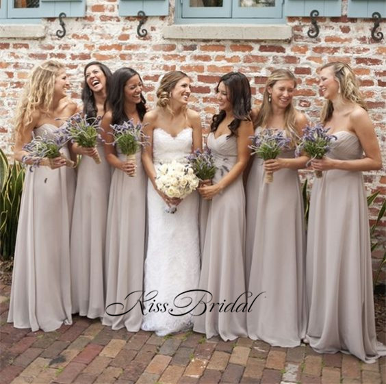 Vestido longo New Long   Bridesmaid     Dresses   2017 Sweetheart Neck Off the Shoulder A-Line Chiffon Wedding Party   Dresses