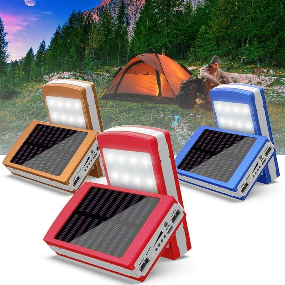 Solar Power Bank Case Dual USB Ports 5x18650 External Battery Charger Solar Power Supply DIY Box Case