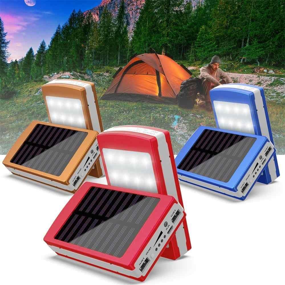 Solar Power Bank Case Dual USB Ports 5x18650 External Battery Charger Solar Power Supply DIY Box Case