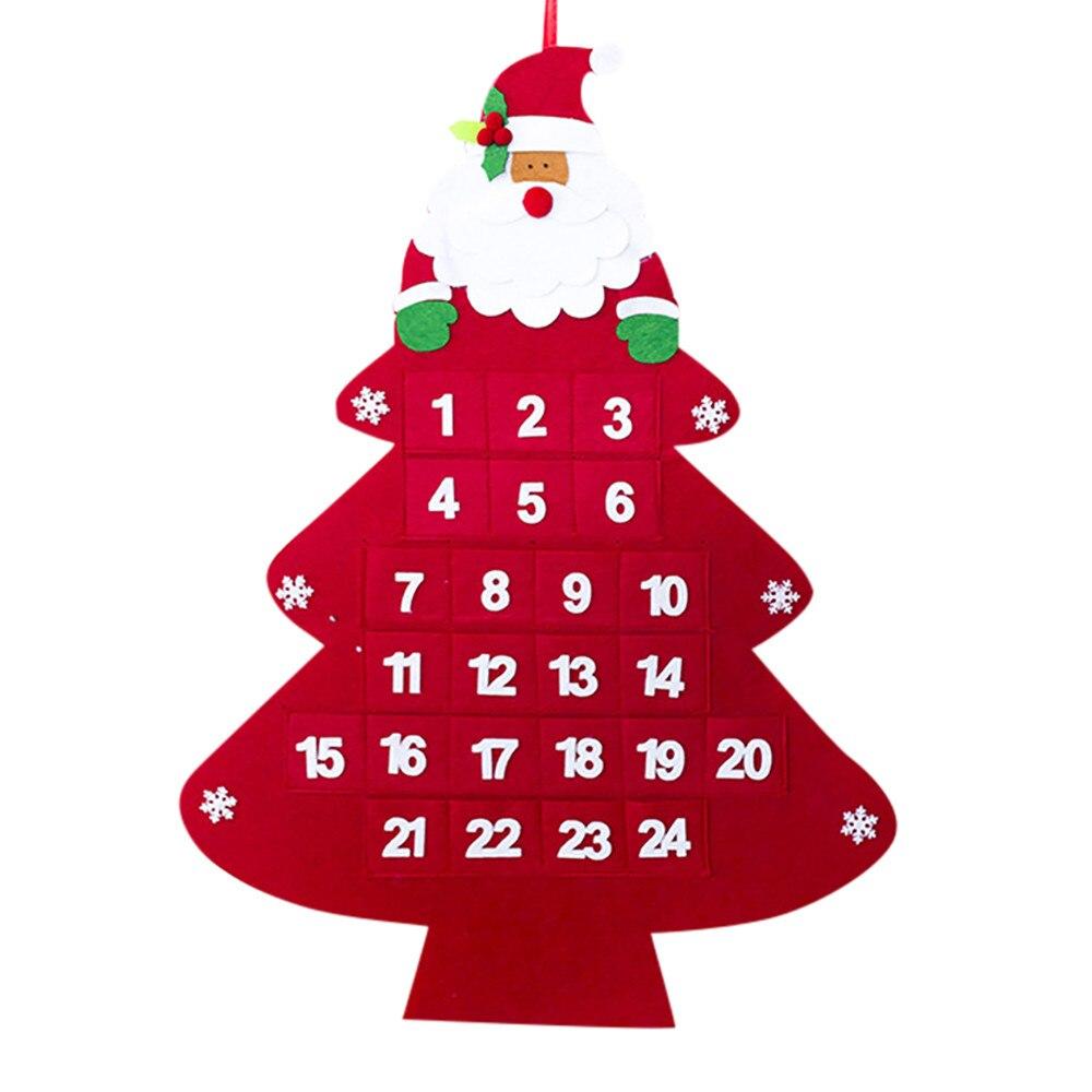 2019 Merry Christma Santa Claus Calendar Hotel Lobby