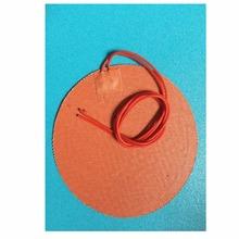 Dia230mm 250W 12V uniwersalna grzałka silikonowa 3D Print grzałka podgrzewana ciepła łóżko olej silnikowy Pan grzałka niestandardowa silikonowa podkładka grzewcza tanie tanio 15 Godzin i Up 101 W Up TherMoElec Włókniny tkaniny 50-100cm random 3M adhesive backing