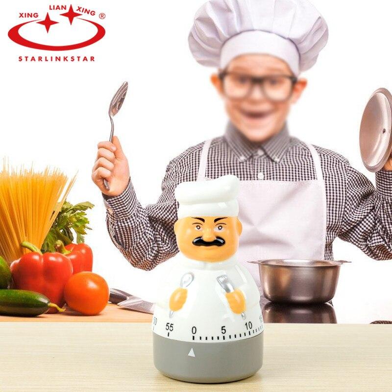 Clever 100 Stücke Küche Messer Gabel Chef Timer Zifferblatt Alarm Kunststoff Uhr Elektronische Kochen Küche Timer SchöN In Farbe Küche Timer Haus & Garten